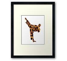 Leopard Kung Fu Framed Print