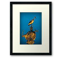 The stork has landed Framed Print