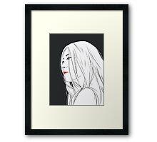 Long Hair Framed Print