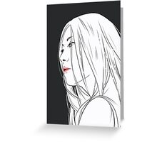 Long Hair Greeting Card