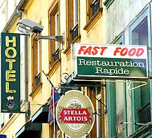 Fast Food, French style, Boulogne, France by buttonpresser