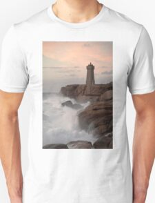 Lighthouse at St Guirec Brittany France T-Shirt