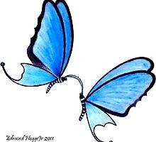 Butterfly Romance by Edmond  Hogge