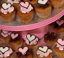 Mini Heart Cakes by tali