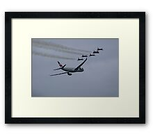 Swiss Airbus 330 and Patrouille Suisse Framed Print