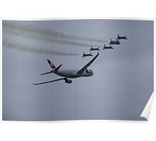 Swiss Airbus 330 and Patrouille Suisse Poster