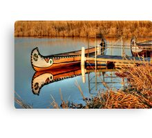 MOORED!!! Canvas Print