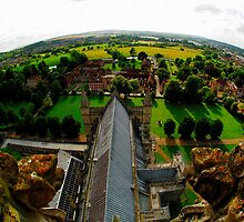 Salisbury - A View From The Spire by delros