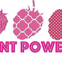 'Plant Powered' Vegan raspberry design by nemofish