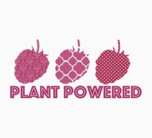 'Plant Powered' Vegan raspberry design Kids Clothes