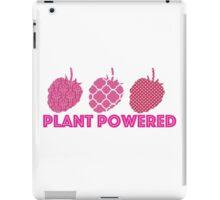 'Plant Powered' Vegan raspberry design iPad Case/Skin