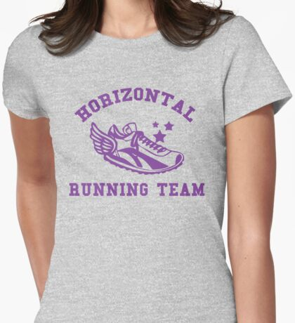Horizontal Running Team Womens Fitted T-Shirt