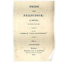 PRIDE and PREJUDICE Novel Cover Poster