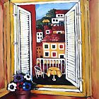 Window at Veli Losinj by Marie Theron