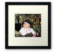 Little Miss Mischief Framed Print