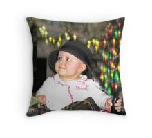 Little Miss Mischief Throw Pillow
