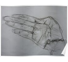 Left handed drawing of Right hand ! Poster