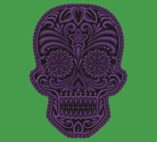 Intricate Purple and Black Sugar Skull Kids Clothes