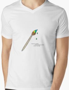 Paint Brush Mens V-Neck T-Shirt