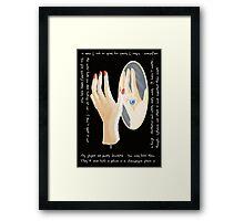 The Mannequin - Left Hand Framed Print
