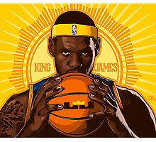 KING JAMES REIGNS Photographic Print