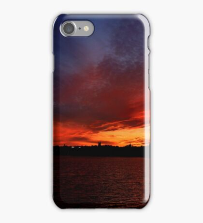 Red Sunset over Blue Sky   iPhone Case/Skin