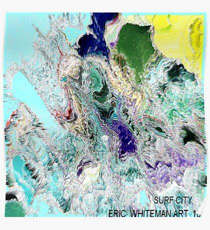 ( SURF CITY ) ERIC  WHITEMAN  ART  Poster