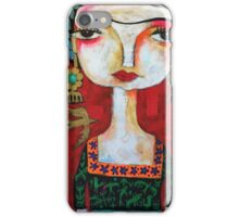 Frida with birds iPhone Case/Skin