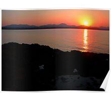 Sunrise over rockpool Poster