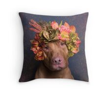 Flower Power, Casper Throw Pillow