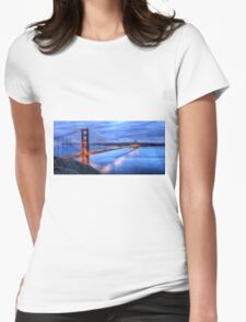 Golden Gate Bridge Oil Painting Womens Fitted T-Shirt
