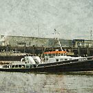 Tug Boat with textured effect by davesphotographics