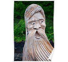 Wooden carved figure up on Mt. Rigi, Switzerland Poster