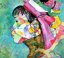 Thai Dyed Woman by Kay Smith