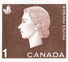 Canada 1963 Queen Cameo Series Postage Stamp - Crystal by Deb Richardson