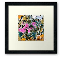 ( POUTLY PUSS )  ERIC  WHITEMAN ART Framed Print