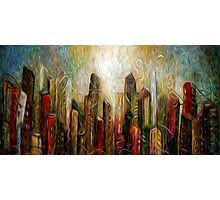 Art City Oil Painting Photographic Print