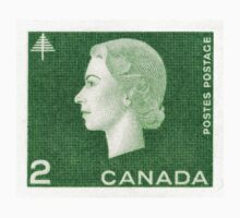 Canada 1963 Queen Cameo Series Postage Stamp - Forest Kids Clothes