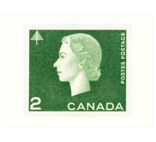 Canada 1963 Queen Cameo Series Postage Stamp - Forest Art Print