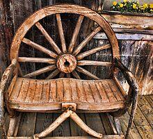 Los Alamos Wooden Bench by Renee D. Miranda