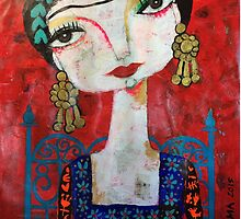 Frida and her blue chair by artbythelma