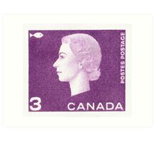 Canada 1963 Queen Cameo Series Postage Stamp - Fish Art Print