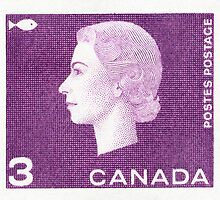 Canada 1963 Queen Cameo Series Postage Stamp - Fish by Deb Richardson