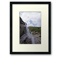 Waterfall at Grossglockner Austria Framed Print