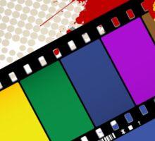 Grunge Rainbow film Sticker