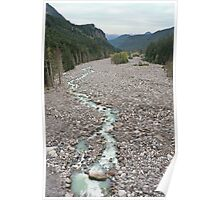 Nisqually River, Glacial Runoff River in Mount Rainier National  Poster