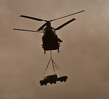 Chinook helicopter with 4x4 by Oliver Lucas