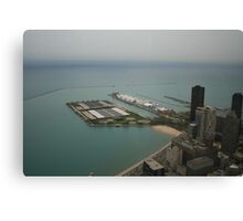 An aerial view of Chicago Canvas Print
