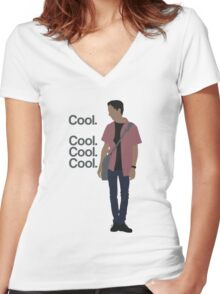 Cool... Cool. Cool. Cool. Women's Fitted V-Neck T-Shirt