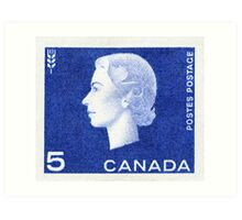 Canada 1963 Queen Cameo Series Postage Stamp - Wheat Art Print